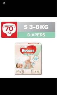 Huggies Platinum Diapers small S size