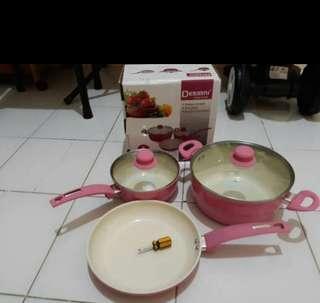 Panci ceramic pink