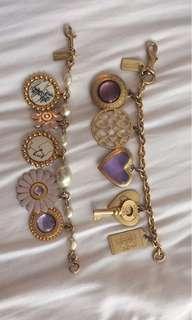 2 Coach Bracelets