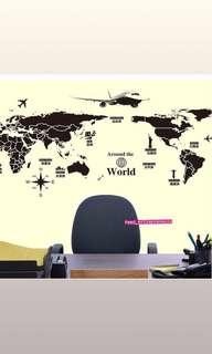 DIY Home Deco Removable wall stickers map world