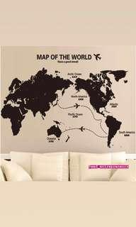 DIY Home Deco Removable wall stickers map  ✔ long lasting.
