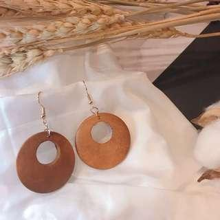 現貨 實拍 FASHION KIKI ♥️木質系耳環