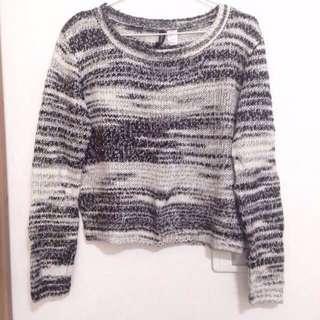 🚚 H&M 短版毛衣 S號