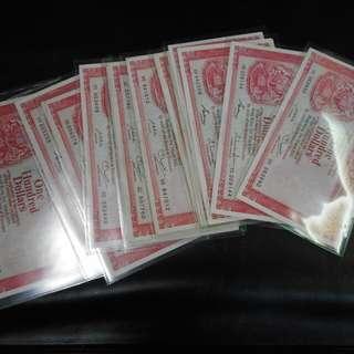 Hong Kong $100 Hsbc Note 1981 1982 1983, $24 Each