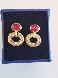 SALE - Vintage Swarovski Earrings- Valentine's treasure