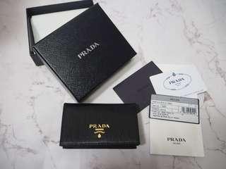 全新 正品 Prada Card Holder  卡片套 黑色 大客量