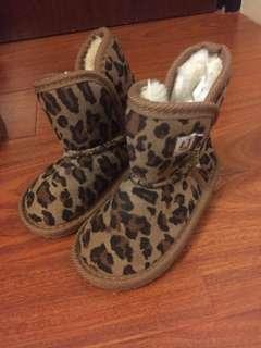 BB 豹紋短靴 (15cm 內長)