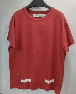 Off White Brushed Red Tee