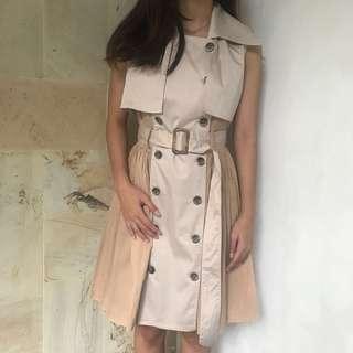 Cream Button Dress