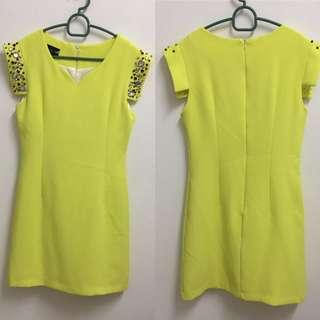 Neon Yellow Party Dress