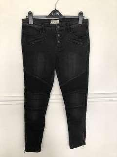 NEW Free People Black Button Up Black Jeans