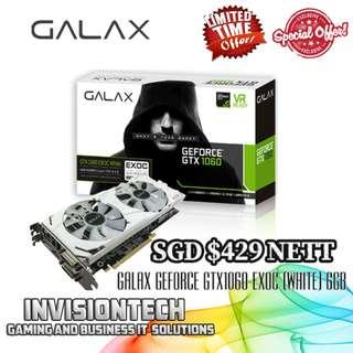 GALAX GeForce GTX1060 Graphic Cards from $320 onwards - SPECIAL OFFER (LIMITED TIME & WHILE STOCKS LAST)