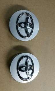 Toyota Wheel Cap 豐田銀色ABS膠鈴蓋2個