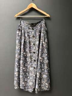 Rok panjang motif bunga #CNY2019