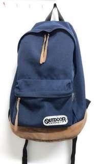 🚚 原價2700元、約8成新、專櫃品牌:Outdoor、學院風後背包
