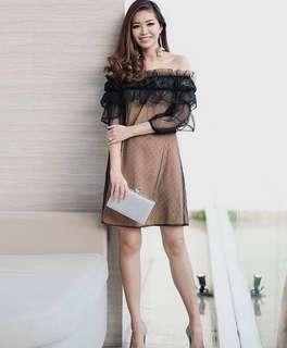 Jolie Clothing Lark Dress- dress sabrina tulle black #CNY2019