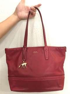 Bally Red Tote Bag (Authentic Swiss made🇨🇭)