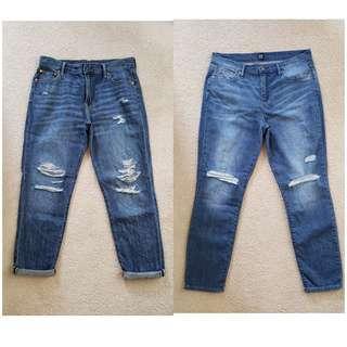 Brand new ladies Gap distressed jeans. Fits 29-30