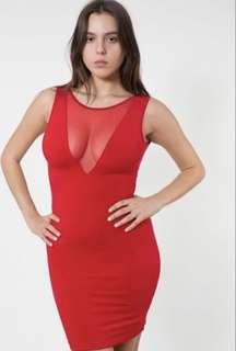 American Apparel Red Bodycon Dress Size L