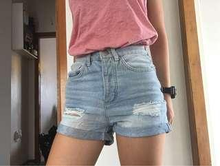high waisted shorts size 6