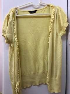 Yellow Cardigan   Short Sleeves