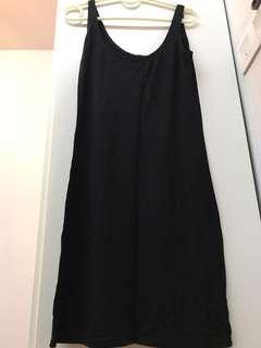 Stretchable Black Dress   Knee Length