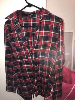 Rosebullet flannelette top