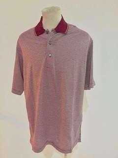 Golf Shirt - Kaos Golf Exclusive - STRIPES MAROON   #JAN25