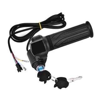 Throttrel gas +indikator batrey 5~120volt&kunci
