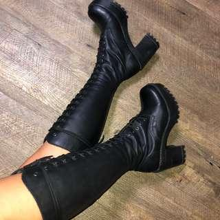 LASH - ROCK BOOTS, BLACK
