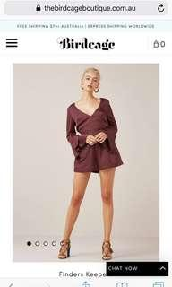 Finders keepers seasons playsuit plum size 8/Small
