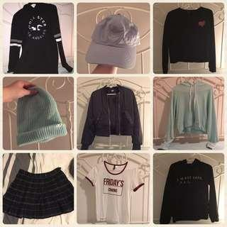 Clothing Bundle💖 (Forever21, H&M, Hollister, ARDENE etc.)