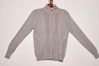 Knitted cardigan (light grey colour)