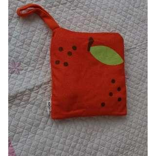Double function baby blanket with ladybird design - can fold to become a pillow