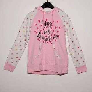 Girl's hoodie (Pink Colour) 100% cotton