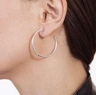 Silver Hoop Earrings #springcleanandcarousell