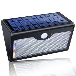 Solar light with motion sensor and remote