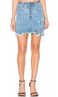 Aje Crawford denim mini skirt, brand new with tags, size 8 au