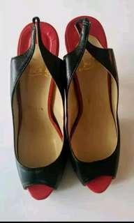 Brand New Christian Louboutin peep toe heels