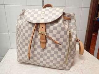 LV damier azur sperone backpack bag