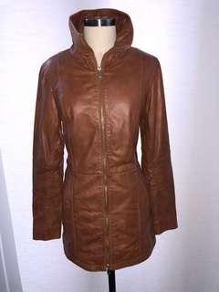 Brown leather jacket (Women's Small)