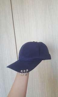 🚚 navy blue 3 ring baseball cap