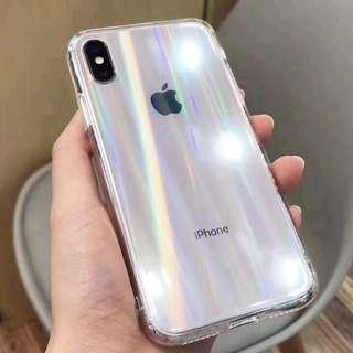 🚚 [PO] Holographic Clear Iphone Case