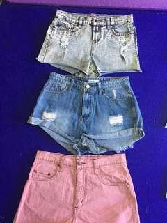 High waisted shorts excellent condition $10 each perth
