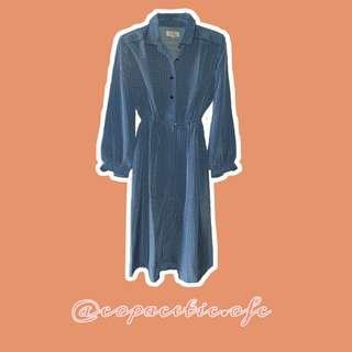 Love blue vintage dress