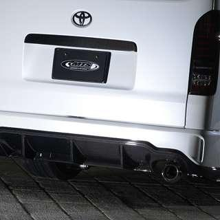 New shipment! Hiace MTS Type Advance Rear Bumper. 2 sets in stock. For Euro 3- 6 std roof