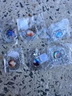 Crescent noon glass pendant necklace $5 each perth