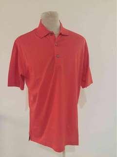 Golf Shirt - Kaos Golf Exclusive - SOLID ORANGE