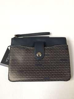 Nautica Schooner Than Later Front Pocket Tab Wristlet w/ RFID Protection