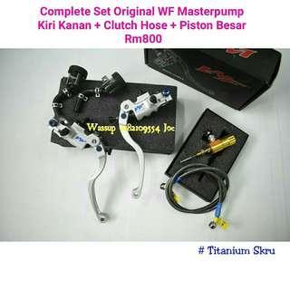 Complete Set WF Masterpump Kiri Kanan + Clutch Hose + Piston Besar
